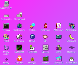 Screen Shot of Windows 93