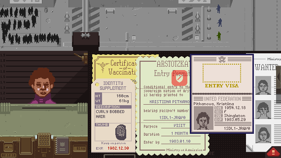 Papers, Please: Screen Shot